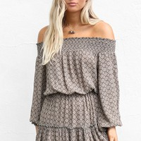 Crazy Over You Olive Off The Shoulder Dress