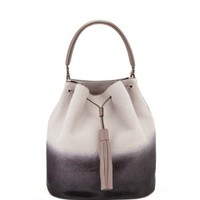 Anya Hindmarch Vaughan Grey Two-Tone Bucket Bag - ShopBAZAAR