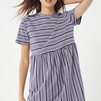 UO Striped Babydoll Frock Dress | Urban Outfitters
