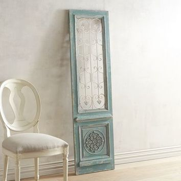 Shabby Chic Teal Wall Panel
