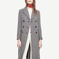 Double Breasted Plaid Coat | Ann Taylor
