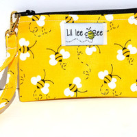 Buzz Off: small purse, zippered pouch, keychain is detachable