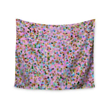 "Vasare Nar ""Candy Pink Confetti"" Pastel Abstract Wall Tapestry"