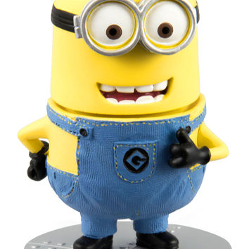 Despicable Me Two Eyed Minion Bobble Head Doll Universal Studios NEW