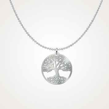 Full Tree of Life Sterling Silver Necklace