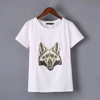SIMPLE - Popular Fashionable Summer Beach Holiday Slim Short Sleeve T-shirt b2453
