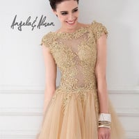 Prom Dresses 2014 - Angela and Alison Short Prom 41071 Short Lace
