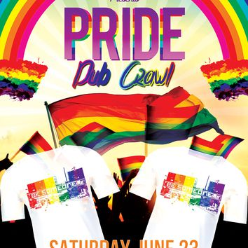 Pride Pub Crawl June 23rd Downtown Houston