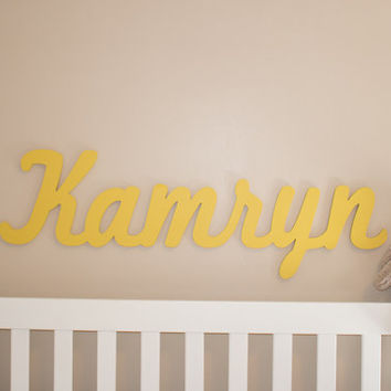 Extra Large Wooden Name Sign 11 12 Letters Baby Plaque