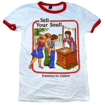 Sell Your Soul Ringer Shirt