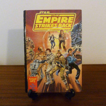 Vintage 1981 Star Wars - The Empire Strikes Back Annual No.2 by Lucasfilm and Marvel Comics / Retro Comic and Activity Book / Hard Cover