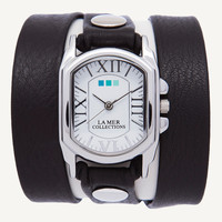 Black Silver Chateau Wrap Watch