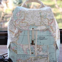 World Map Prints Backpack/Large Backpack/Travel,School,Daily Backpack/Unisex  Rucksack /Earth /