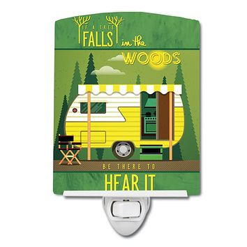 Be in the Woods Retro Camper Ceramic Night Light BB5482CNL