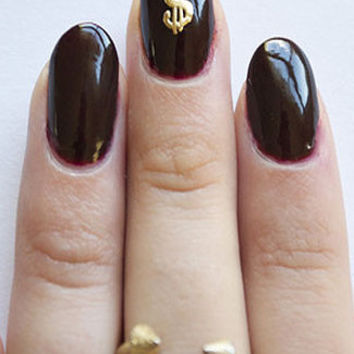 Money Gold Nail Charm
