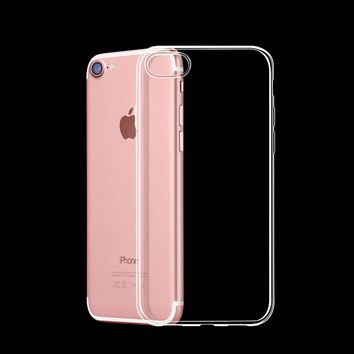 0.3mm Ultra Thin Slim Crystal Soft Silicon Gel Case Transparent Phone Cover For iPhone 7 7 8 Plus 6 6S Plus 5 5s SE 4 4S
