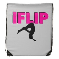 I Flip gymnastics drawstring backpack