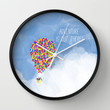 ADVENTURE IS OUT THERE! Wall Clock by Rebecca Allen