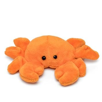 "Single Crab Mini 4"" Small Stuffed Animal, Ocean Animal Toy, Sea Party Favor for Kids"