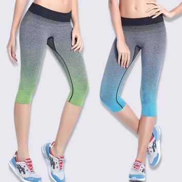 Women's summer Compression Fast drying Tight Running Shorts Slim Gym Training Fitness Bodybuilding Yoga Workout Leggings