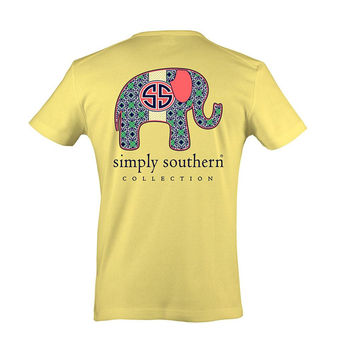 Simply Southern Elephant Tee - Yellow