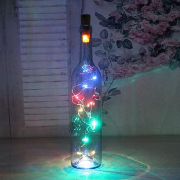 Z10 2M 20LED lamp Cork Shaped Bottle Stopper Light Glass Wine LED String Lights For Bar Xmas Wedding Home Decoration 5 Colors