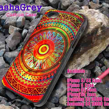 Mandala pattern _ iphone case iphone 4/4s,5/5s,5c, Samsung S3,S4 Case Accesories Design By : sashagreystore