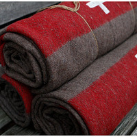 25 percent off SALE - authentic Swiss Army wool blanket- seconds