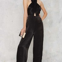 Nasty Gal Heaven On Earth Pussybow Jumpsuit