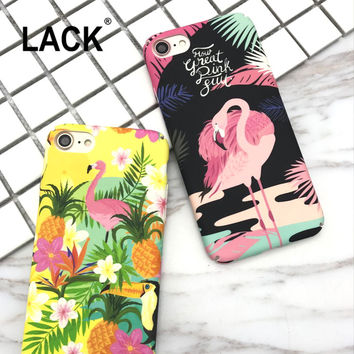 Phone cases Fashion Cartoon Flamingo Pineapple Case for iPhone 7 Cover For iPhone 7 6 6S Plus Lovely Animals Birds Funda Coque