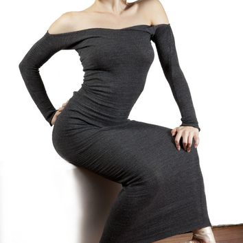 Sexy Ankle Length Sweater Dress BodyCon