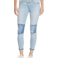 Hudson Released Hem Ankle Skinny Jeans in Royal Delta | Bloomingdales's
