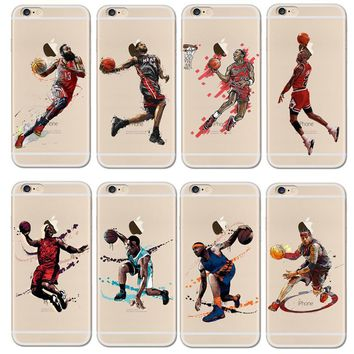 For NBA Basketball Phone Case for iphone 5 5se 6 6s 7 plus Cases Jordan 23 James Harde