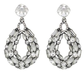 Shop Crystal Cluster Earrings on Wanelo 934499867