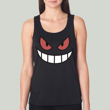 POKEMON GENGAR pikachu for women tank top --- size S,M,L,XL,2XL,3XL