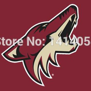 Phoenix Coyotes logo Flag 150X90CM  NHL 3X5 FT Banner 100D Polyester flag brass grommets 001, free shipping