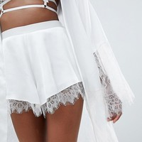 ASOS DESIGN Bridal Lace Trim Short at asos.com