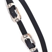WESTERN BELT IN BLACK