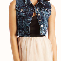 cut-off-denim-vest NAVY - GoJane.com