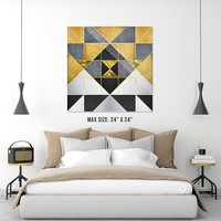 "Geometric XXIV - Acrylic Print  - 12"" x 12"" , 16"" x 16"" , 20"" x 20"" , 24"" x 24"" - High Gloss Finish"