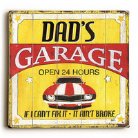 Dad's Garage by Artist Debbie Dewitt Wood Sign