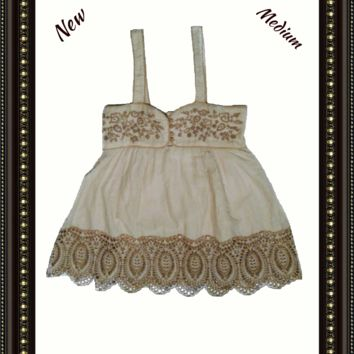 Glam Vintage Soul  baby doll top  size  medium