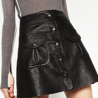 LEATHER MINI SKIRTDETAILS