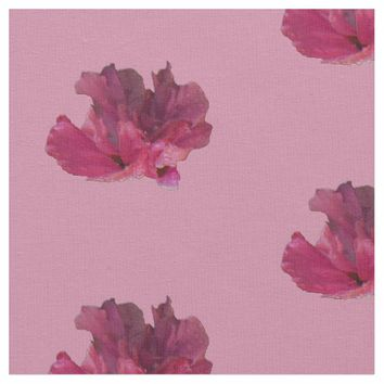 Wet Rose of Sharon Flower Fabric