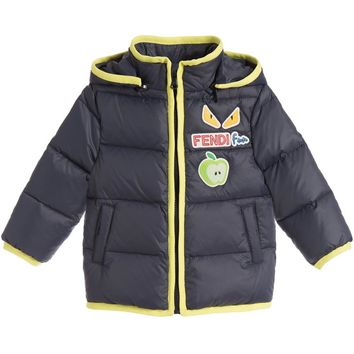 Fendi Baby Boys Navy/Green Puffer Jacket