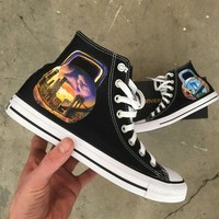 New York Kettlebells For The One And Only Kenny Santucci! - Custom Hand Painted Converse High Tops