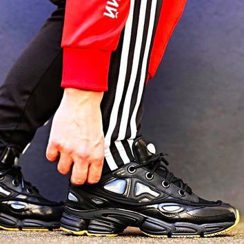 Raf Simons x Adidas Consortium Ozweego 2 S81162 Black Women Men Casual Trending Running Sports Shoes Sneakers