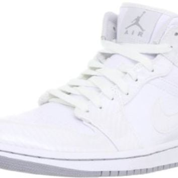 Nike Men's NIKE AIR JORDAN 1 PHAT BASKETBALL SHOES 11.5 (WHITE/WOLF GREY/WHITE)