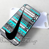 Nike Just Do It Aztec Blue for iPhone 4, iPhone 4s, iPhone 5, iPhone 5s, iPhone 5c Samsung Galaxy S3, Samsung Galaxy S4 Case