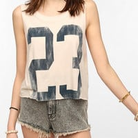 Urban Outfitters - Project Social T Lucky Number Cropped Muscle Tee